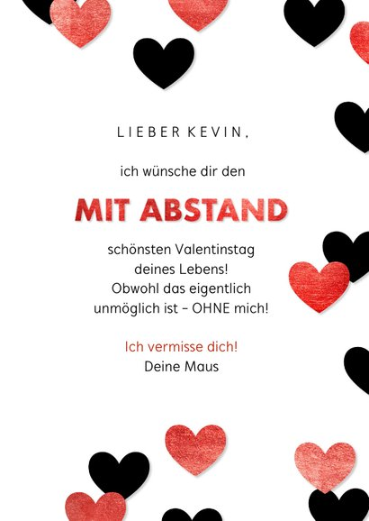 Valentinskarte 'Mit Abstand' 3