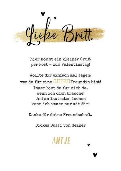 Valentinskarte mit Foto 'Allerbeste Freundin' 3