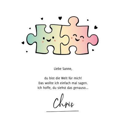 Valentinskarte Puzzleteile 'Perfect Match' 3