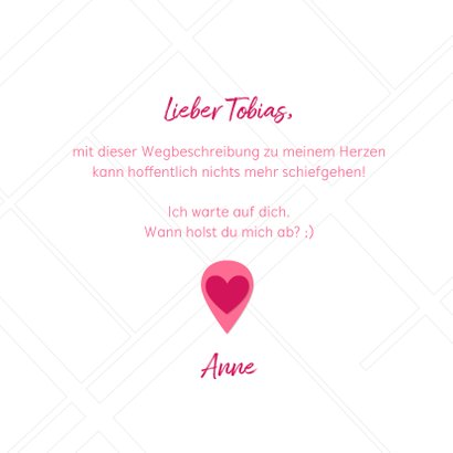 Valentinskarte Wegbeschreibung Stadtplan 3