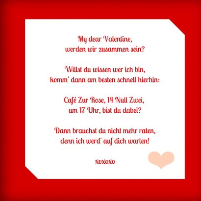 Valentinstag Grußkarte 'Happy Valentine's Day' 3