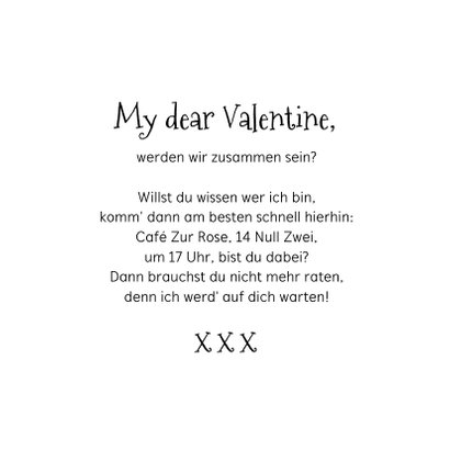Valentinstag Grußkarte 'Key to my heart' 3
