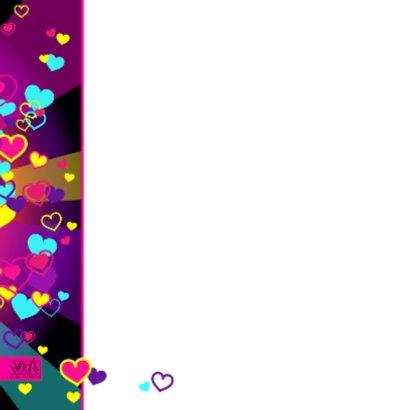 Van harte met gekleurde hartjes 2