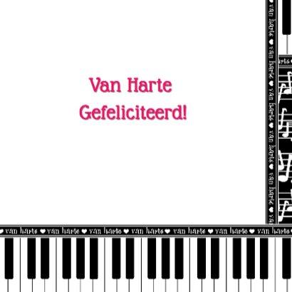 Van Harte... muzieknoten piano 3