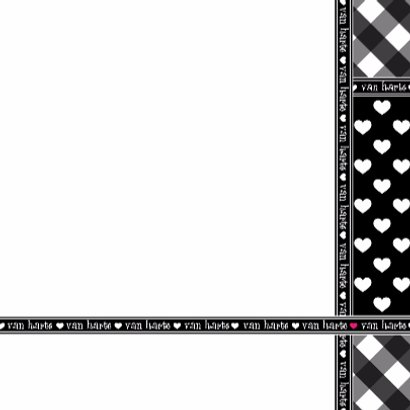 Van HARTE zwart-wit ruitjes en hartjes 3