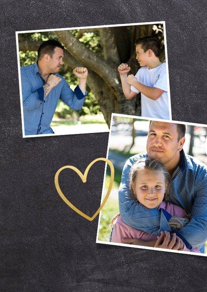 Vatertagskarte '# 1 PAPA!' mit Fotos 2