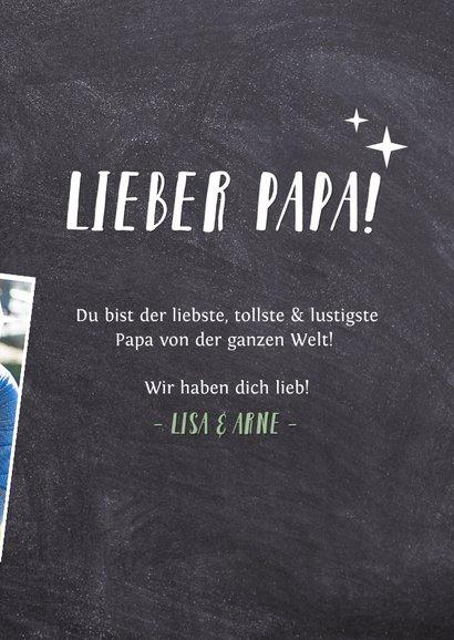 Vatertagskarte '# 1 PAPA!' mit Fotos 3