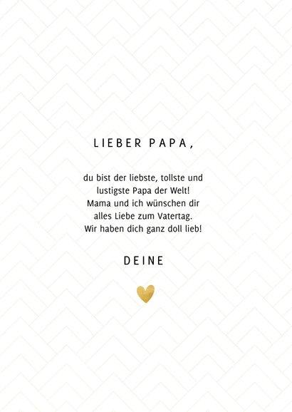 Vatertagskarte 'Best Dad ever' 3