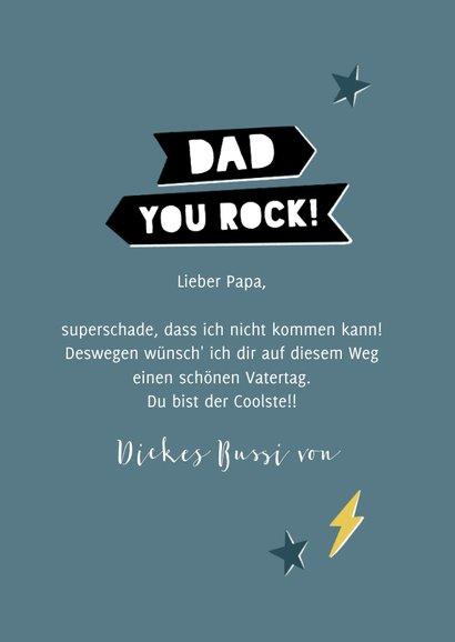 Vatertagskarte 'Dad, you rock' 3