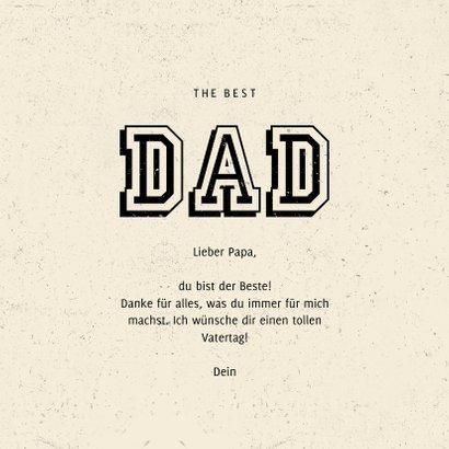 Vatertagskarte 'Dad you're the best' 3