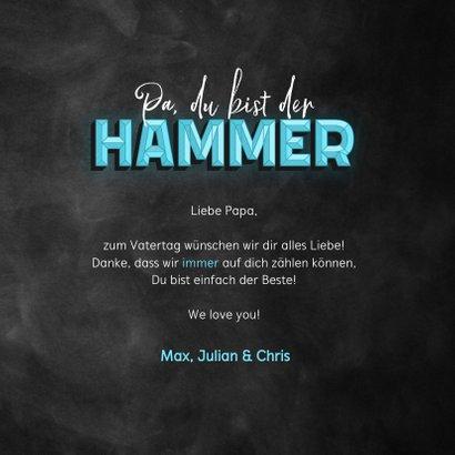 Vatertagskarte 'Du bist der Hammer' 3