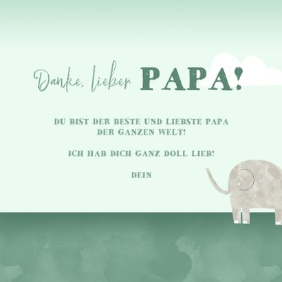 Vatertagskarte Elefanten 3