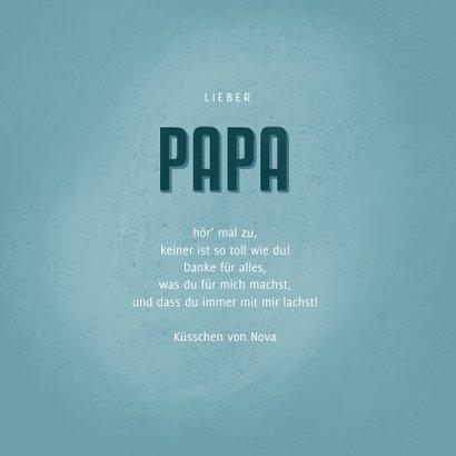 Vatertagskarte Foto und blaues Herz 3