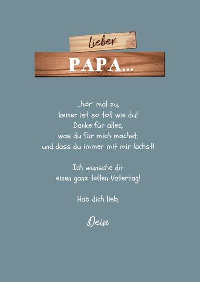 Vatertagskarte Heimwerker mit Foto 3