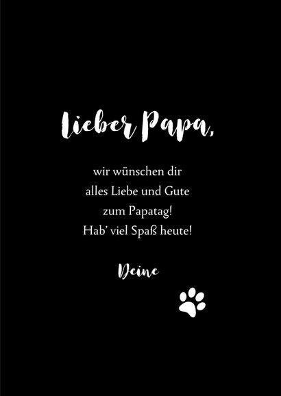 Vatertagskarte Hundenase 3