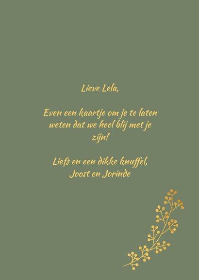 Veel liefs - a touch of gold - liefde kaart 3