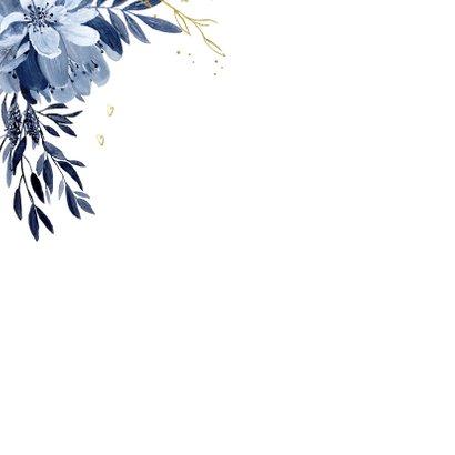 Veel liefs kaart delftsblauw bloemen 2