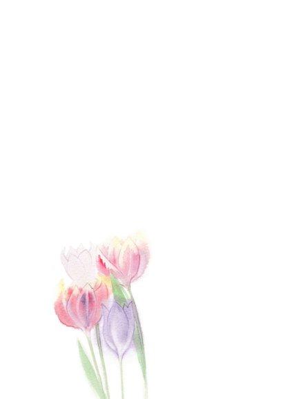 Veel liefs zomaar kaart met tulpen 2