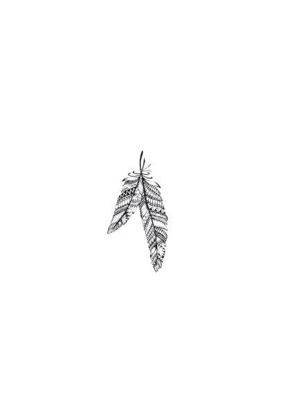 Veren zwart/wit illustratie 2