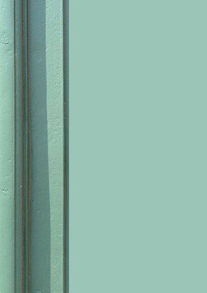 Verhuisbericht retro voordeur pastelgroen 2