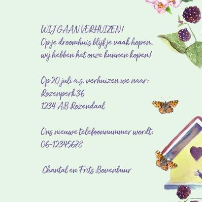 Verhuiskaart Droomhuis vlinder 3