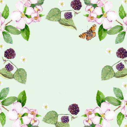 Verhuiskaart Droomhuis vlinder Achterkant
