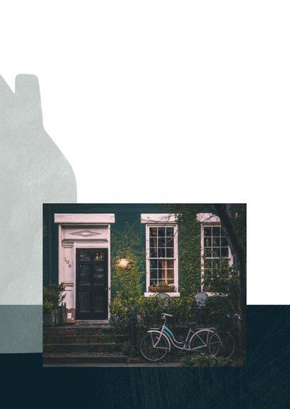 Verhuiskaart eenvoudig, met foto's op de binnenzijde 2