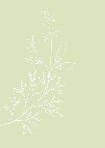Verhuiskaart flower, aanpasbare tekst 2