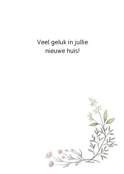 Verhuiskaart flower, aanpasbare tekst 3