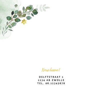 Verhuiskaart hip foto's botanisch waterverf 2