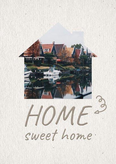 Verhuiskaart Home sweet home fotohuisje 2