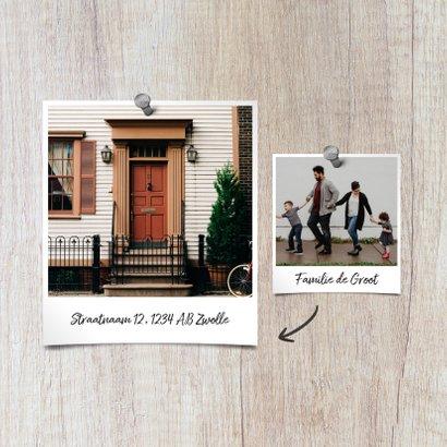 Verhuiskaart hout adreswijziging met foto's 2