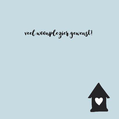 Verhuiskaart huisje zwart-wit 3