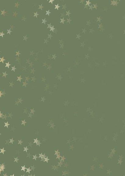 Verhuiskaart kerst groen staand met huis - Een gouden kerst 2