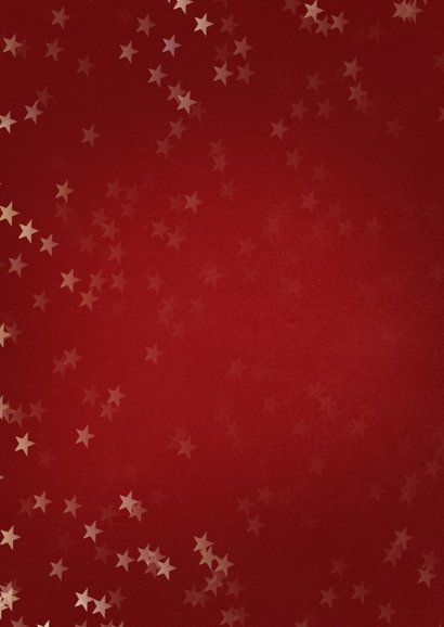 Verhuiskaart kerst staand met huisje goud - Een gouden kerst 2