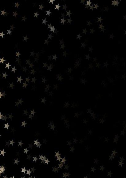 Verhuiskaart kerst zwart staand met huis - Een gouden kerst 2