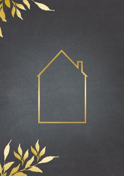 Verhuiskaart krijtbord gouden huis 2