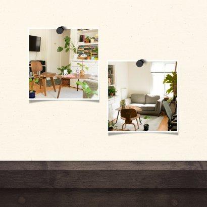 Verhuiskaart krijtbord huis met sleutelbos 2