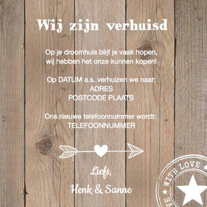 Verhuiskaart label houtlook 3