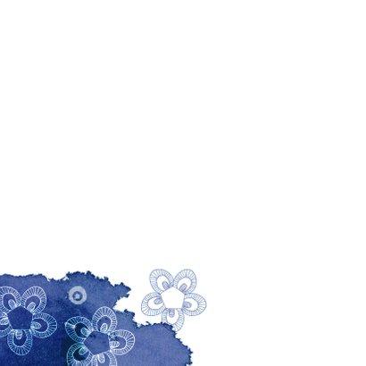 Verhuiskaart met een huisje en blauwe kleurvlekken 2