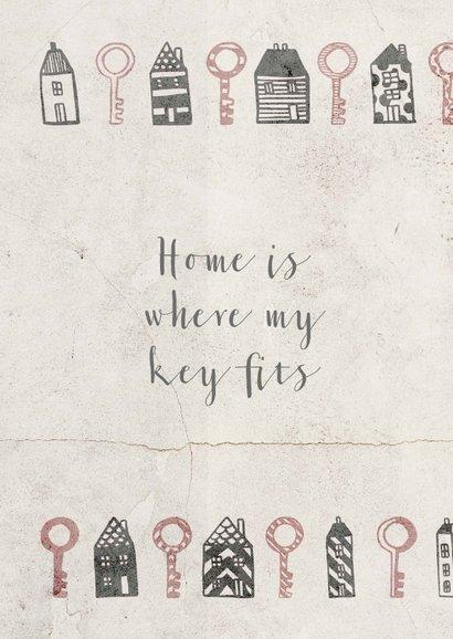 Verhuiskaart met huisjes en sleutels 2