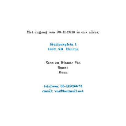 Verhuiskaart met kaart van Nederland 3