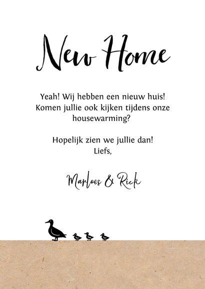 Verhuiskaart nieuwe woning huis kraft illustratie 3