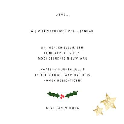 Verhuiskaart nieuwe woning voor 2 foto's - een gouden kerst 3