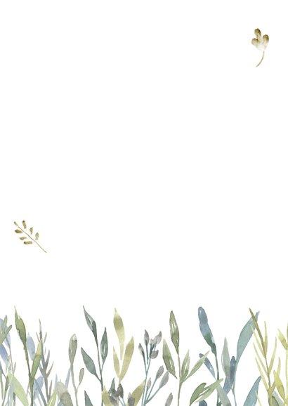 Verhuiskaart pastel takjes met foto Achterkant