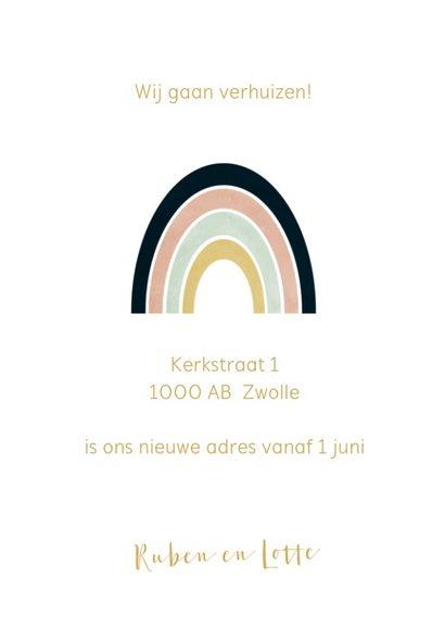 Verhuiskaart regenboog 3