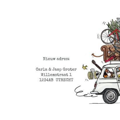 Verhuiskaart Renault 4 Wit 3