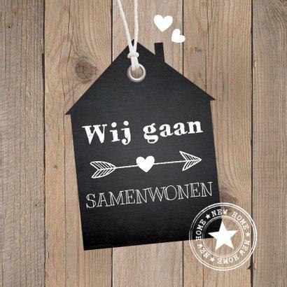 Verhuiskaart samenwonen label huis houtlook 2