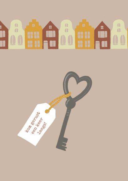 Verhuiskaart sleutel en huizen 2