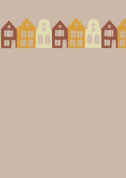 Verhuiskaart sleutel en huizen Achterkant